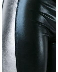 Norma Kamali - Black Cropped Cotton-Blend Leggings - Lyst