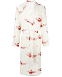 La Perla | Natural Long Night Robe for Men | Lyst