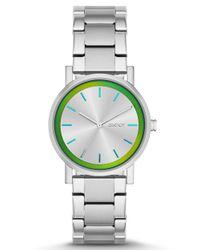 DKNY - Metallic Ladies Soho Holographic Bracelet Watch - Lyst