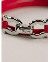 Ferragamo | Pink Gancini Detail Bracelet | Lyst