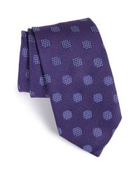 David Donahue | Purple Dot Silk Tie for Men | Lyst
