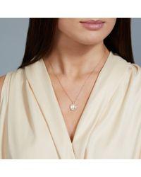 Necklaces - Pink Mini Astley Moonstone Pendant - Lyst
