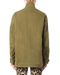 Balmain - Green Quiltedshoulder Cotton Parka - Lyst