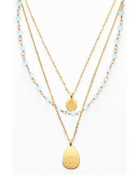 Satya Jewelry | Blue Beaded Layered Necklace | Lyst