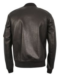 Rick Owens | Black Cyclops Leather Bomber Jacket for Men | Lyst