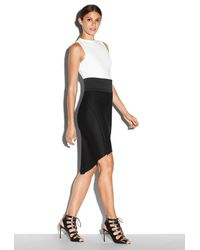 MILLY | Black Bonded Neoprene Sculptural Skirt | Lyst
