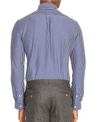Polo Ralph Lauren | Blue Striped Cotton Sportshirt for Men | Lyst