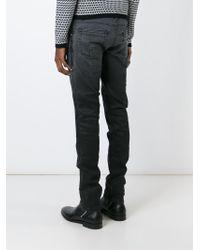 Belstaff | Gray Ribbed Panel Biker Jeans for Men | Lyst