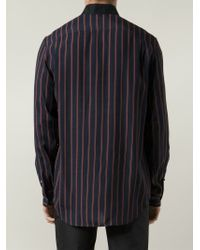 3.1 Phillip Lim - Blue Striped Shirt for Men - Lyst