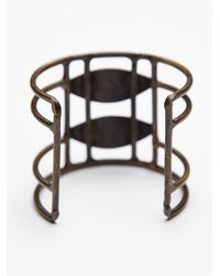 Free People - Black Womens Caged Stone Cuff - Lyst
