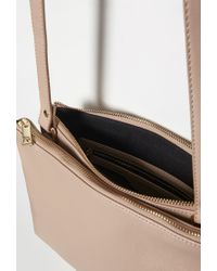 Forever 21 | Brown Faux Leather Dual Crossbody | Lyst