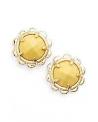 kate spade new york - Metallic Stud Earrings - Lyst