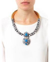 Shourouk - Blue Zulu Gold-Plated Swarovski Necklace - Lyst