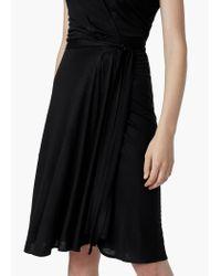 Mango | Black Belt Wrap Dress | Lyst