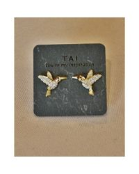 Tai | Metallic Hummingbird Stud | Lyst