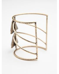 Free People - Blue Womens Caged Stone Cuff - Lyst