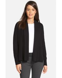 Nordstrom Collection | Black Cashmere Shawl Collar Cardigan | Lyst