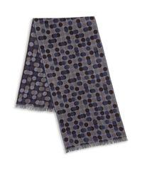 Saks Fifth Avenue - Blue Dot Print Merino Wool Scarf for Men - Lyst