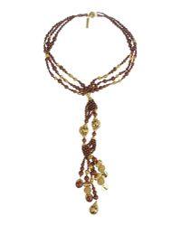 Blumarine - Brown Necklace - Lyst
