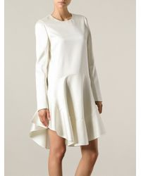 Chloé - White Flared Crepe Dress - Lyst