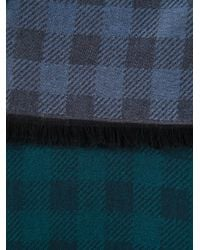 Paul Smith - Blue Check Print Scarf for Men - Lyst