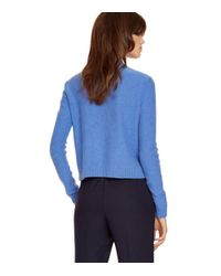 Tory Burch | Blue Wool Long-sleeve Pullover | Lyst