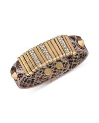 The Sak - Metallic Goldtone Python Leather Slider Accent and Stud Bracelet - Lyst