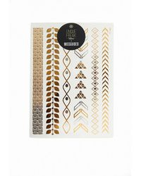 Missguided | Gold Metallic Temporary Tattoos | Lyst