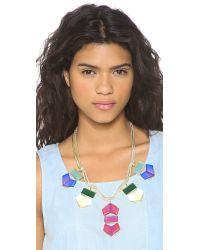 Gemma Redux - Multicolor Flora Rainbow Necklace - Rainbow - Lyst