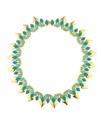 Noir Jewelry - Green Rising Sun Necklace - Lyst