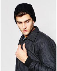Esprit - Black Rib Beanie for Men - Lyst