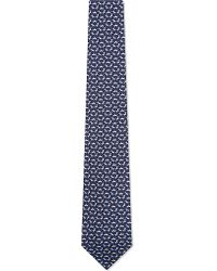 Ferragamo | Blue Dog Print Tie - For Men for Men | Lyst