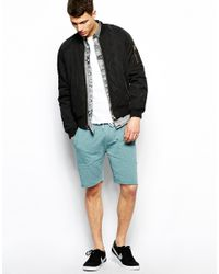 ASOS - Blue Jersey Shorts in Nepp for Men - Lyst