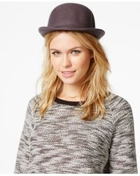 BCBGeneration | Gray Heart Charm Bowler Hat | Lyst