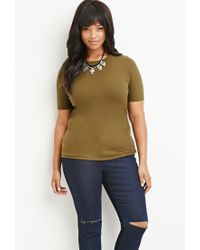 Forever 21 | Green Plus Size Classic Ribbed Top | Lyst