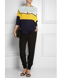 Vionnet - Yellow Color-Block Silk Sweater - Lyst