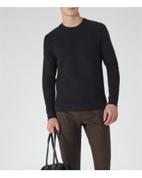 Reiss - Blue Hatter Quilted Jumper for Men - Lyst