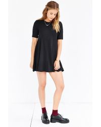 Silence + Noise - Black Mercy Seamed Swing Dress - Lyst