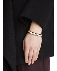 Halcyon Days | Natural Agama 18Kt Gold Plated Bangle | Lyst