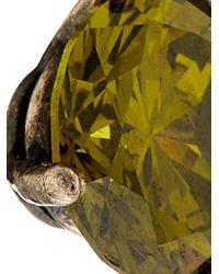 Bottega Veneta - Green Cubic-Zirconia Stud Earrings - Lyst