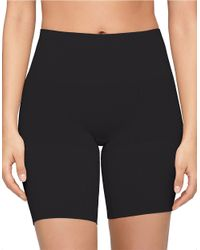 Yummie By Heather Thomson | Black Margie Mid-waist Thigh Shaper Shorts | Lyst