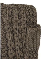 French Connection - Gray Midnight Tassel Arm Warmers - Lyst
