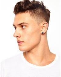ASOS - Metallic Stud Earring for Men - Lyst