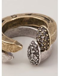 Giles & Brother | Metallic Pave Railroad Stackable Rings | Lyst