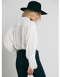 6eefde09e8ef2 Lyst - Free People Fp One Tie Front Blouse in White