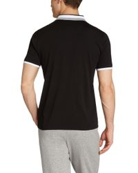 BOSS Green - Black Regular-fit Golf Polo Shirt 'paddys' In Cotton for Men - Lyst