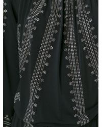 MICHAEL Michael Kors - Black Embellished Drawstring Dress - Lyst