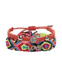 Aéropostale | Multicolor Love & Fireball Cord Bracelet 2-pack | Lyst