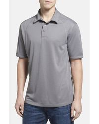 Tommy Bahama | Gray 'firewall Spectator' Island Modern Fit Polo for Men | Lyst