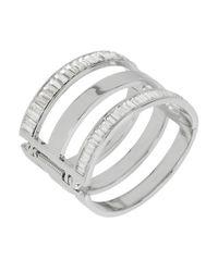 Kenneth Cole | Metallic Sparkled Baguette Cut-out Bracelet | Lyst